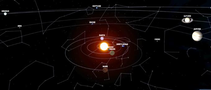 solar system opposite Sun Sep 2019